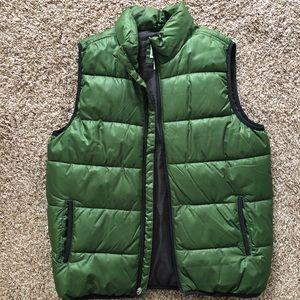 Men's Green Puffer Vest